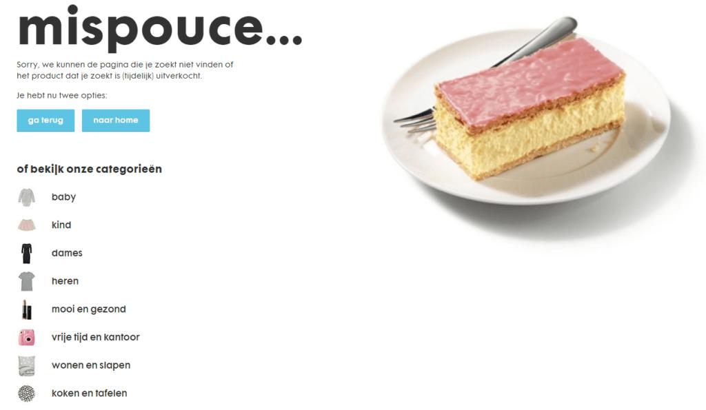 voorbeeld 404 pagina hema