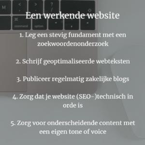 Werkende website