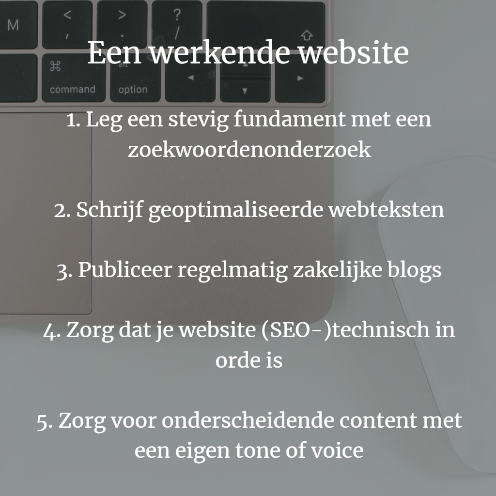 Werkende website