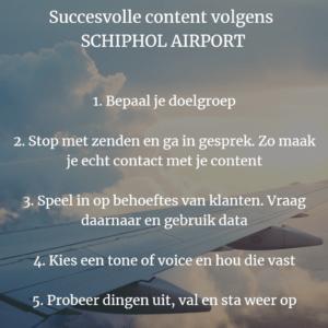 Succesvolle content Schiphol